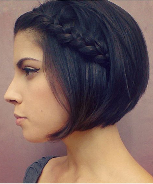 Chic Short Bob Hairstyles With Little Rope Braids For Women regarding Most Current Short And Chic Bob Braid Hairstyles