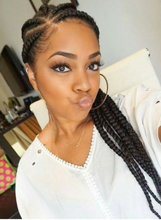 Chunky Cornrows | Braid It Up | Braided Hairstyles, Natural inside Current Chunky Ghana Braid Hairstyles