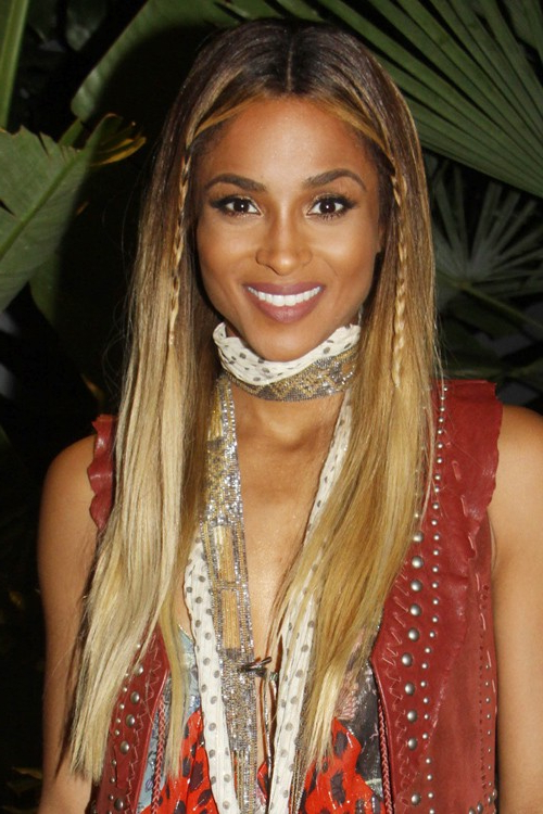 Ciara Straight Medium Brown Mini Braids, Ombré Hairstyle throughout 2018 Straight Mini Braids With Ombre