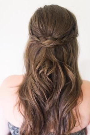 Classy Pinned-Back Hairstyles For Prom | Wedding | Wedding in Most Recent Pretty Pinned Back Half Updo Braids