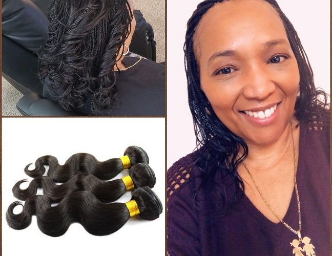 Client Appreciation! ? Microbraids With Brazilian Body Wave pertaining to Most Recent Crochet Micro Braid Hairstyles Into Waves