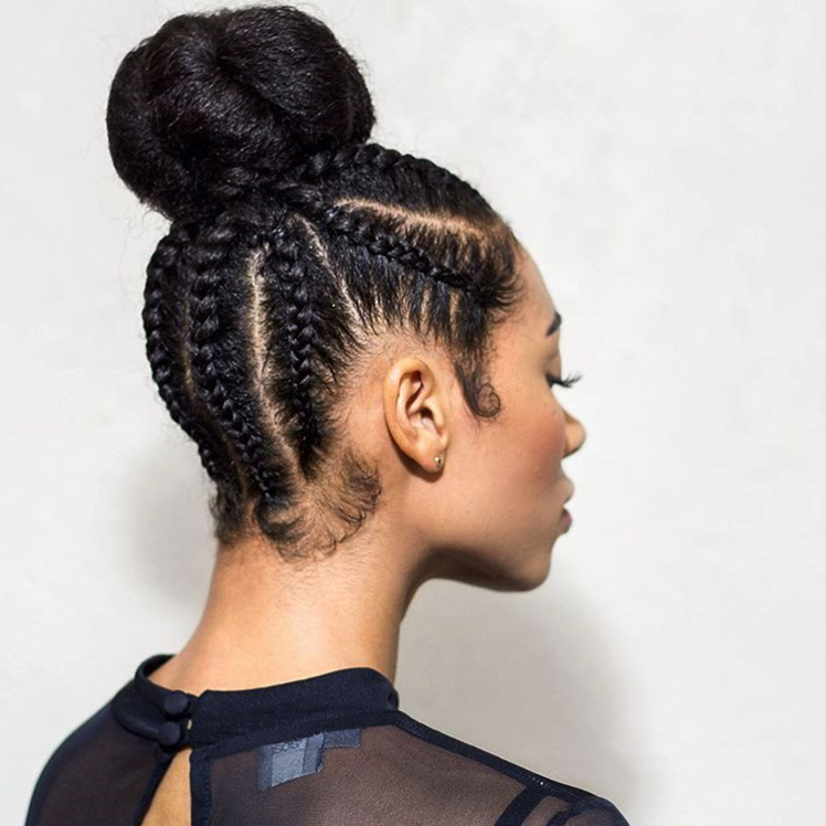 Cornrow Hairstyles: Different Cornrow Braid Styles (Trending regarding Most Up-to-Date Thick Cornrows Bun Hairstyles