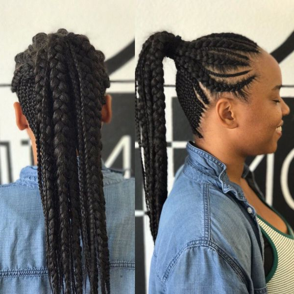 Cornrow Hairstyles: Different Cornrow Braid Styles (Trending Within Best And Newest Braided Braids Hairstyles (View 8 of 25)