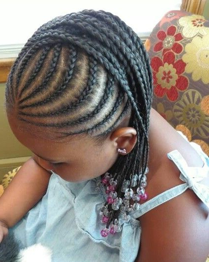 Cornrow Mohawk With Beads | Braids | Kids Braided Hairstyles inside Most Current Mohawk Braided Hairstyles With Beads