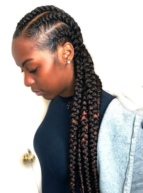 Cornrows Braids | 45 Killer Braided Hairstyles For Black with Most Recently Long Braid Hairstyles With Golden Beads