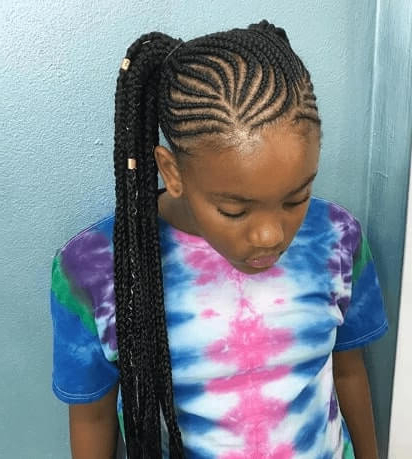 Cornrows With Raised Side Ponytail within Most Recent Side Pony And Raised Under Braid Hairstyles