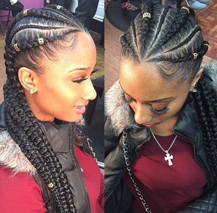 Cornrows?   To See More Follow @kiki&slim   Hairstyles pertaining to Recent Thick Wheel-Pattern Braided Hairstyles