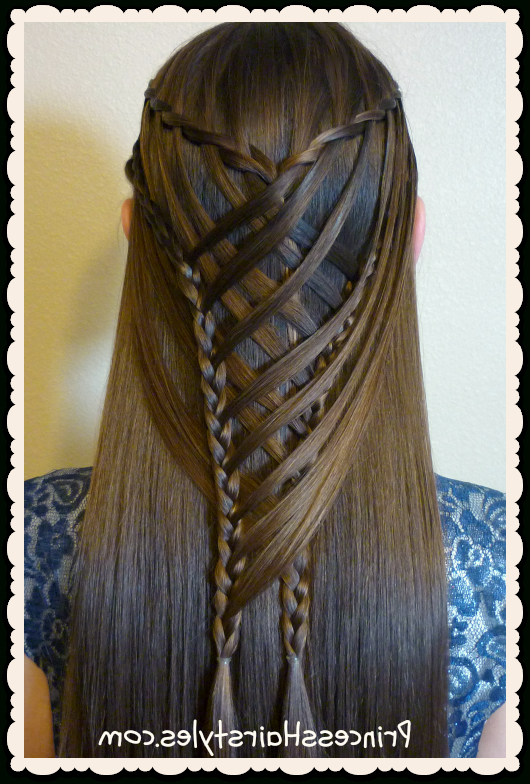Criss Cross Waterfall Mermaid Braid Hairstyle | Hairstyles With Regard To Most Current Waterfall Mermaid Braid Hairstyles (View 4 of 25)