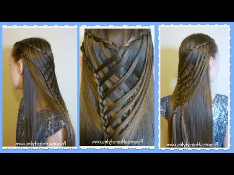 Criss Cross Waterfall Mermaid Braid Hairstyle – Youtube Throughout Most Recently Waterfall Mermaid Braid Hairstyles (View 22 of 25)