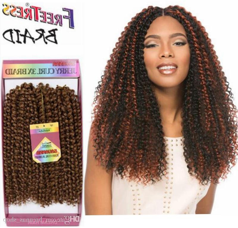 Crochet Braid Freetress Deep Twist Synthetic Braiding Hair Gray Color Imbre Two Tone Freetress Braids Jerry Curly Hair Bundles With Most Recent Two Tone Twists Hairstyles With Beads (View 23 of 25)