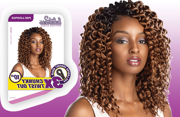 Crochet Braiding For African American Hair | Crochet Braids with Newest Purple Passion Chunky Braided Hairstyles