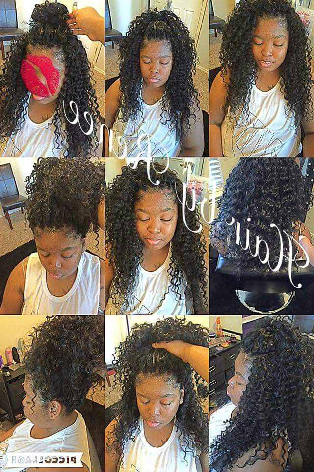 Crochet ?????? | Crochet Braids In 2019 | Curly For 2018 Crochet Micro Braid Hairstyles Into Waves (View 14 of 25)