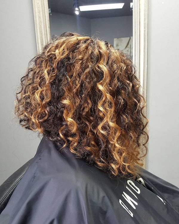 Curly Angled Crochet Bob | Hairstyles | Hair Styles, Crochet intended for Best and Newest Angled Braided Hairstyles On Crimped Hair