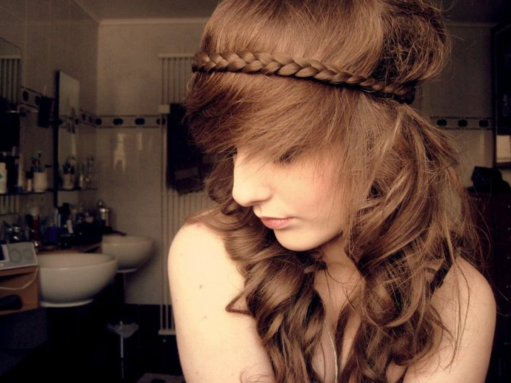 Cute Braided Hairstyle With Spiky Fringe For Summer | Styles throughout 2018 Braid Hairstyles With Braiding Bangs