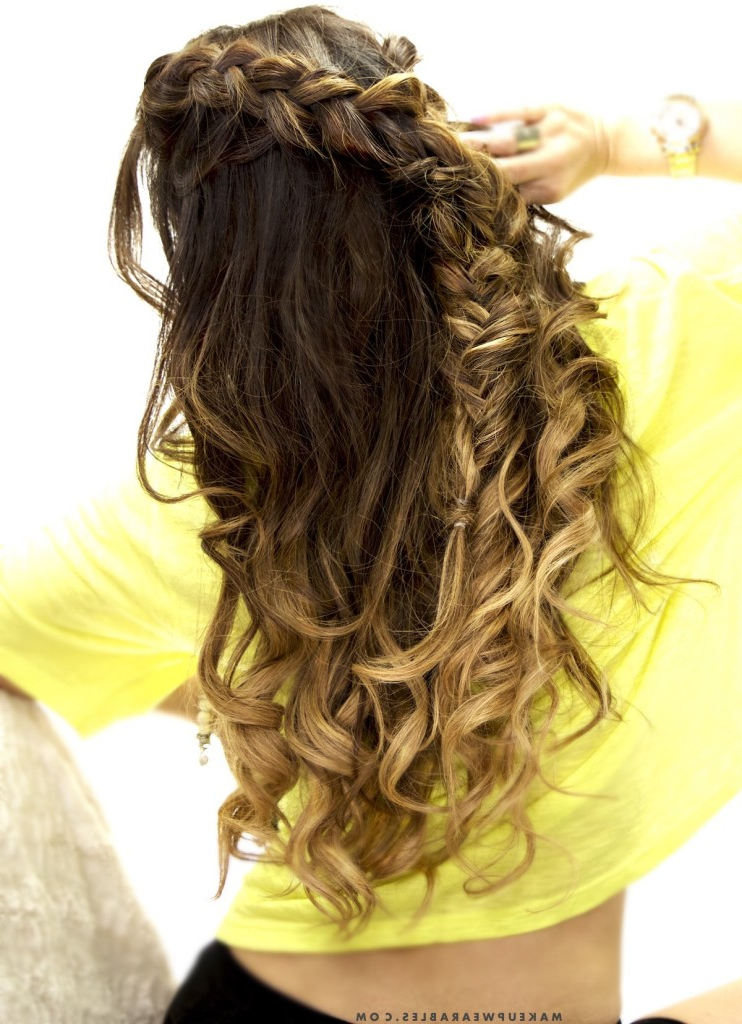 Cute Combo Braid | Half-Up Half-Down Hairstyle | School + within Newest Half-Up Half-Down Boho Braided Hairstyles