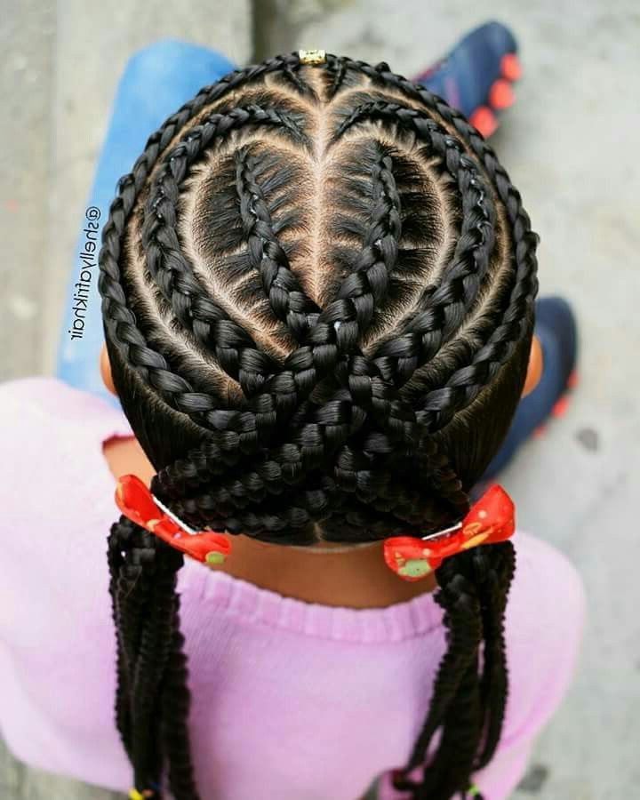 Cute Heart Hairstyle For Kids | Hair - For Kids | Kids pertaining to Most Up-to-Date Heart-Shaped Fishtail Under Braid Hairstyles