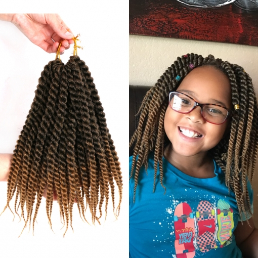 Dairess 12 Inches Senegalese Twist Crochet Braids Ombre Brown Burgundy Braiding Hair Synthetic Kanekalon Crochet Hair Extensions inside Current Black And Brown Senegalese Twist Hairstyles