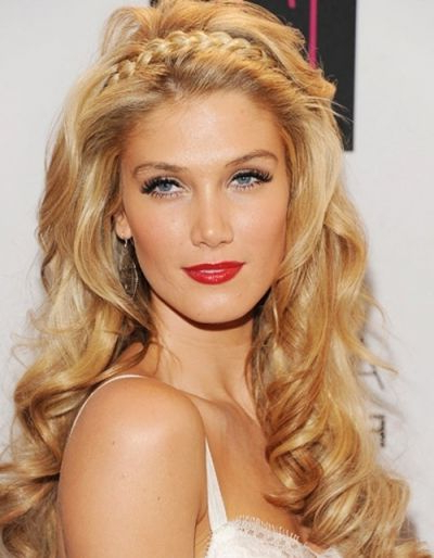 Delta Goodrem Voluminous Halo Braid Hairstyle | Hair Style Throughout Most Popular Voluminous Halo Braided Hairstyles (View 2 of 25)