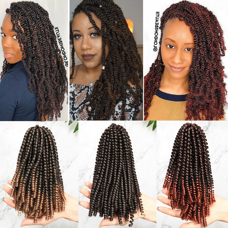 """Details About 8"""" Spring Passion Twist Crochet Braiding Hair Extensions Jumpy Curl Bounce Wavy Inside Most Recently Purple Passion Chunky Braided Hairstyles (View 21 of 25)"""