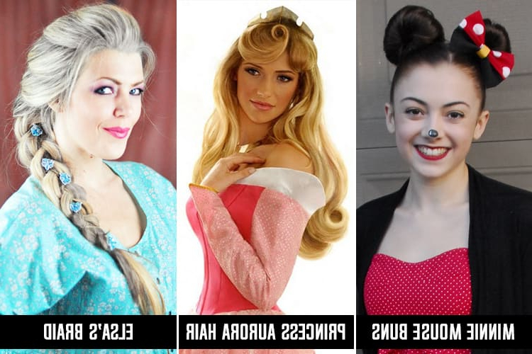 Disney Princess Hairstyles For Long Hair Throughout Recent Minnie Mouse Buns Braid Hairstyles (View 24 of 25)