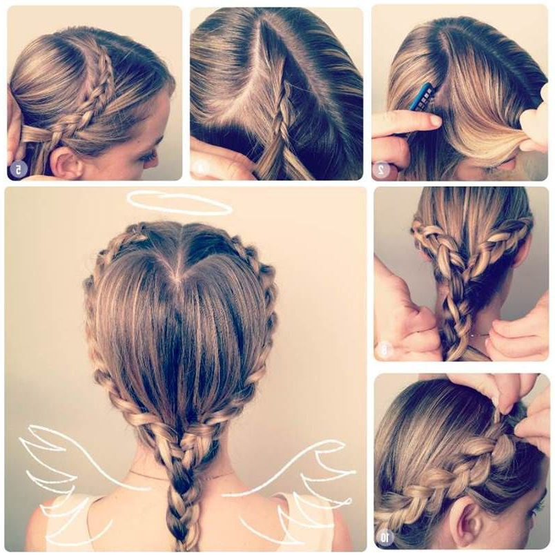 Diy Heart Shaped Braid | Jena | Braided Hairstyles, Long with regard to Most Popular Heart-Shaped Fishtail Under Braid Hairstyles