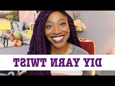 Diy Purple Yarn Twist Tutorial Throughout Latest Side Swept Yarn Twists Hairstyles (View 23 of 25)