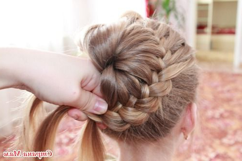 Diy Unique Braided Bun Hairstyle Inside Most Recent Braids And Buns Hairstyles (View 25 of 25)