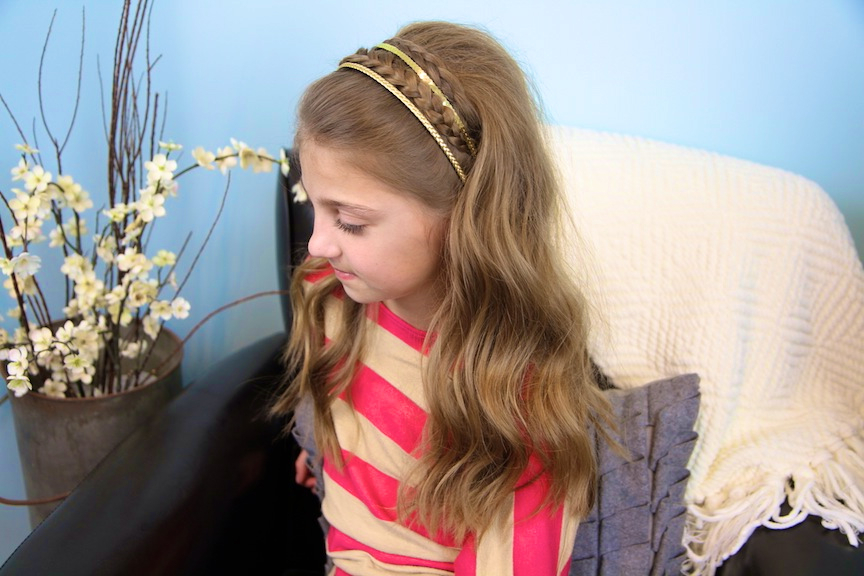 Double Braid Sparkly Headband | Braided Headbands | Cute Within Best And Newest Double Headband Braided Hairstyles With Flowers (View 8 of 25)