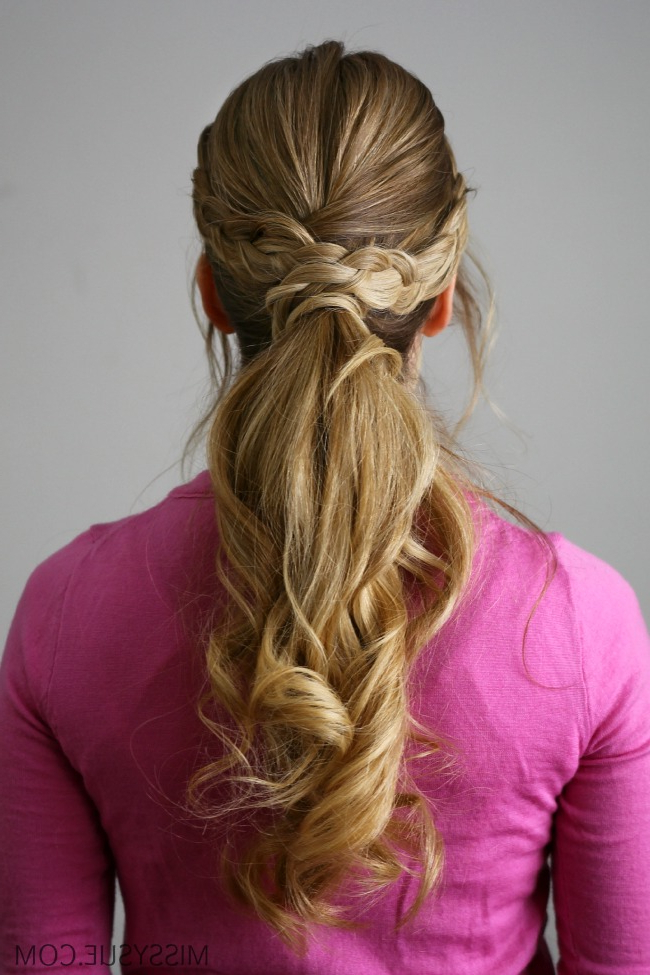 Double Braid Wrapped Ponytail | Missy Sue With Latest Wrapped Ponytail Braid Hairstyles (View 6 of 25)