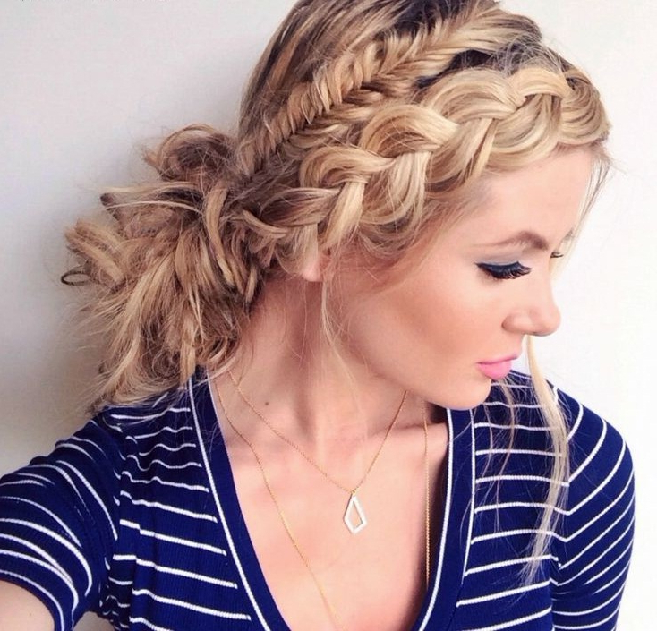 Double Braided Headband - Glamorous Hairstyles with regard to Most Popular Double Headband Braided Hairstyles With Flowers