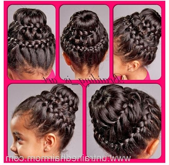 Double Crown Braid Bun Tutorial - Lil C's Hair For The for Most Current Double-Crown Updo Braided Hairstyles