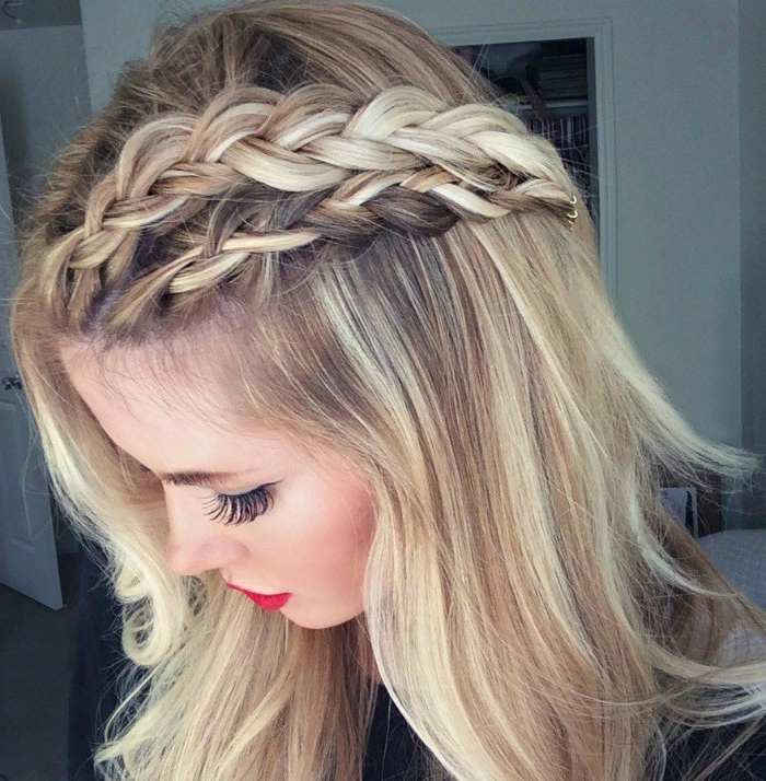 Double Dutch Braid Tutorial - Barefoot Blondeamber regarding Most Current Double Headband Braided Hairstyles With Flowers