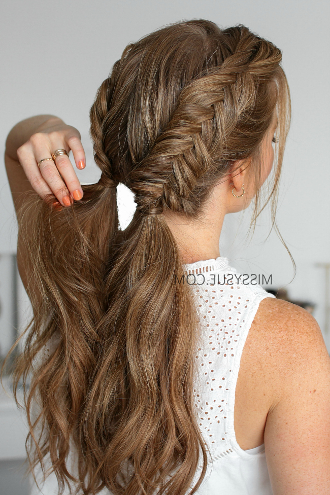 Double Dutch Fishtail Braids | Missy Sue for Most Recent Nostalgic Knotted Mermaid Braid Hairstyles