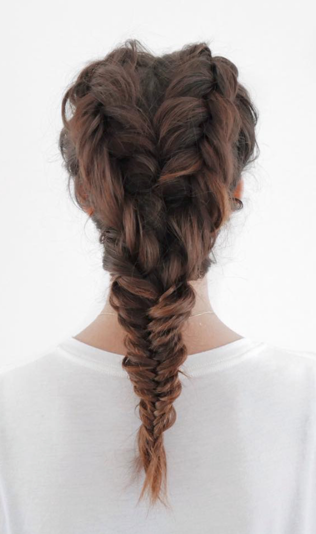 Double Fishtail Braid | Hair And Make-Up | Hair Styles, Long pertaining to Recent Double Half-Up Mermaid Braid Hairstyles
