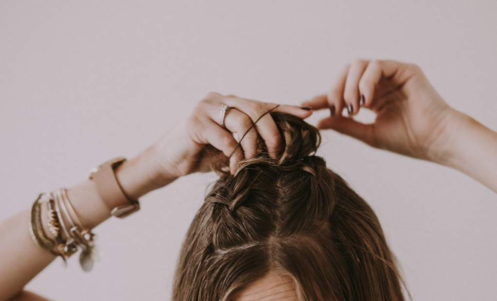 Double French Braid Half Up Top Knot | Dani Marie Blog pertaining to Current Half Up Top Knot Braid Hairstyles