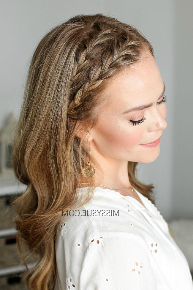 Double Headband French Braids | Hair Tutorials | Hair Styles With Regard To Most Recent Double Headband Braided Hairstyles With Flowers (View 7 of 25)