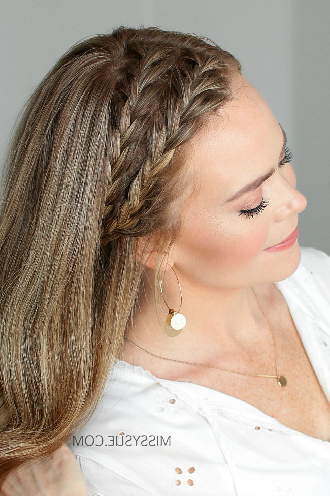 Double Headband French Braids | Missy Sue For Most Current Double Headband Braided Hairstyles With Flowers (View 2 of 25)