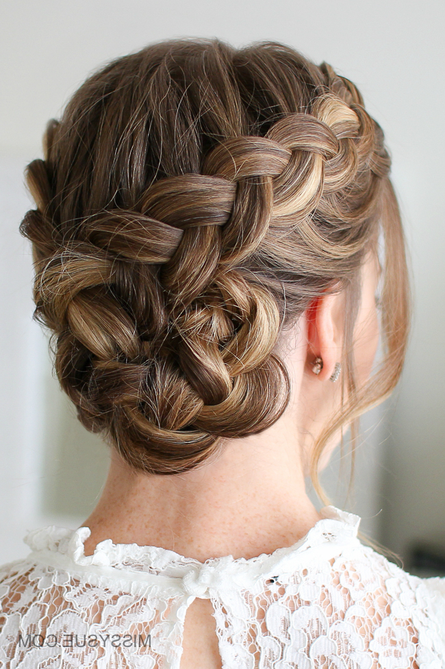 Dutch Braided Bun | Missy Sue For Most Current Braids And Buns Hairstyles (View 12 of 25)