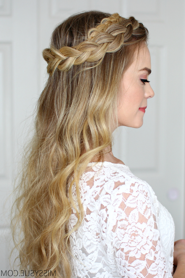 Dutch Halo Braid | Missy Sue throughout Most Current Halo Braided Hairstyles With Beads