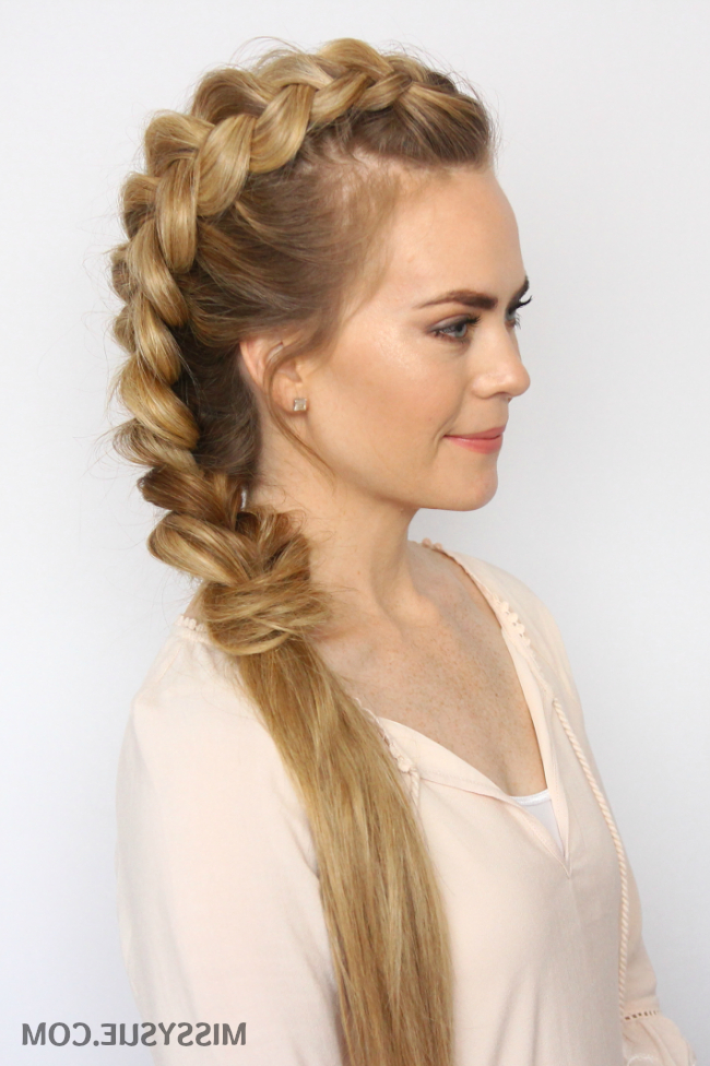 Dutch Mohawk Braid Hairstyles | Missy Sue pertaining to Most Recent Braided Mermaid Mohawk Hairstyles