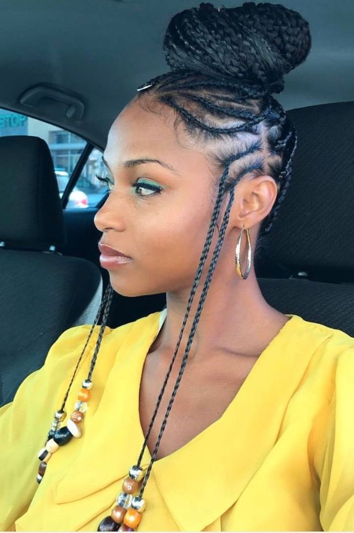 ? 1001+ Ideas For Beautiful Ghana Braids For Summer 2019 Regarding Best And Newest Box Braid Bead Ponytail Hairstyles (View 24 of 25)