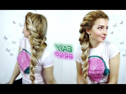 Easy Braid Hairstyle Quick And Easy Rope Braid | Awesome Hairstyles ? Intended For Recent Pink Rope Braided Hairstyles (View 16 of 25)