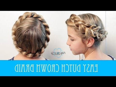 Easy Dutch Crown Braid – No Bobby Pins! With Recent No Pin Halo Braided Hairstyles (View 3 of 25)
