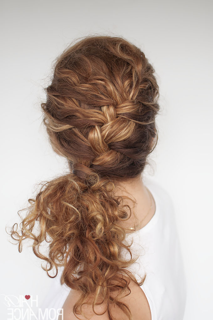 Easy Everyday Curly Hairstyle Tutorials – The Curly Side Braid Regarding Most Recently Angled Braided Hairstyles On Crimped Hair (View 5 of 25)