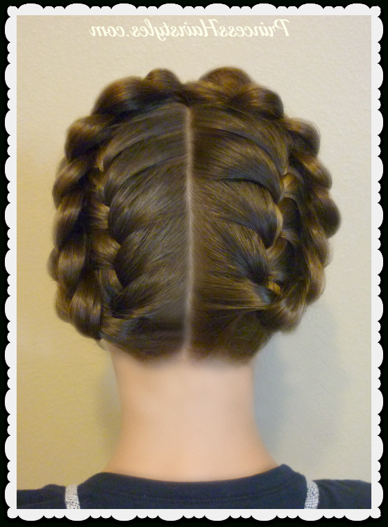 Easy Halo Or Crown Braid Tutorial | Hairstyles For Girls In Latest Voluminous Halo Braided Hairstyles (View 13 of 25)