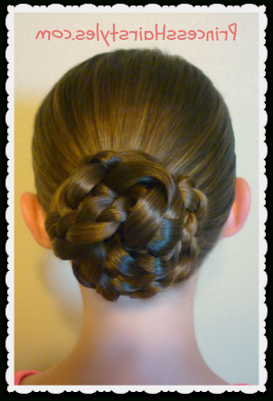 Easy Triple Braid Bun, Back To School Hairstyles In Newest Triple Under Braid Hairstyles With A Bun (View 20 of 25)