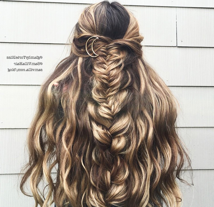 Effortless Diy Bohemian Braided Hairstyle Within Recent Softly Pulled Back Braid Hairstyles (View 13 of 25)