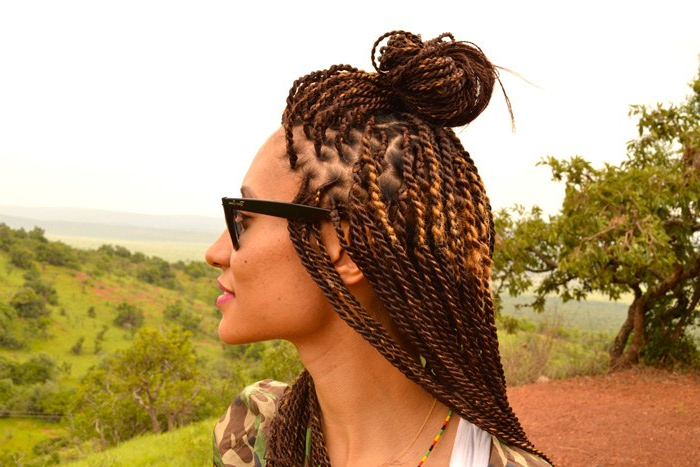 Elaine Welteroth African Braid Diary   Teen Vogue Inside Recent Tiny Twist Hairstyles With Caramel Highlights (View 25 of 25)
