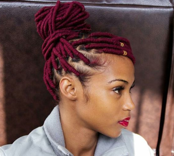 Everything You Need To Know About Faux Locs: Newbie Within Latest Yarn Braid Hairstyles Over Dreadlocks (View 13 of 25)