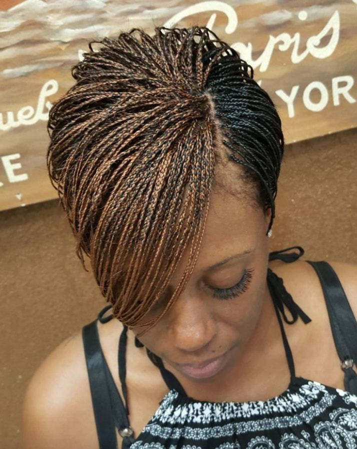 Extraordinary 25+ Best Ideas About Micro Braids Hairstyles Pertaining To 2018 Short Stacked Bob Micro Braids (View 17 of 25)